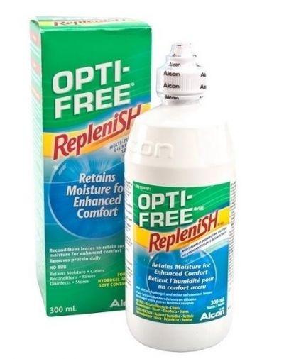 OPTIFREE Replenish retains moisture for enhanced comfort