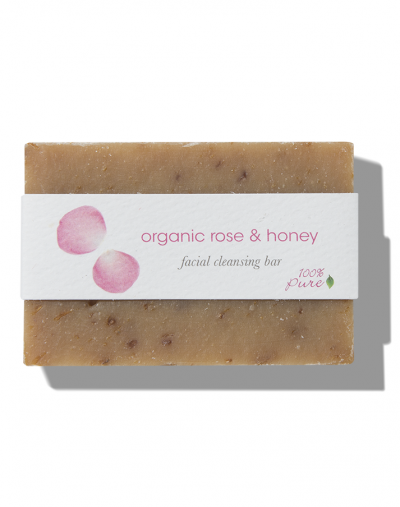 100% Pure  Rose & Honey Facial Cleansing Bar