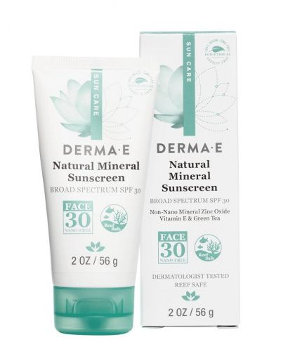 Derma E Natural Mineral Sunscreen Broad Spectrum SPF 30 Oil-Free Face
