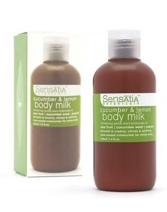 Sensatia Botanicals Cucumber and Lemon Body Milk