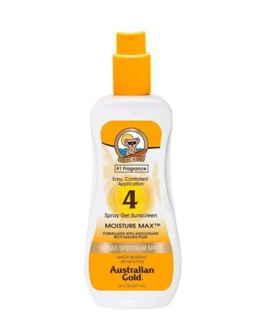 SPF 4 Spray Gel Sunscreen