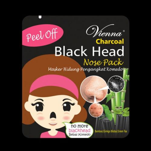 Vienna Peel Off Charcoal Black Head Nose Pack Review Female Daily