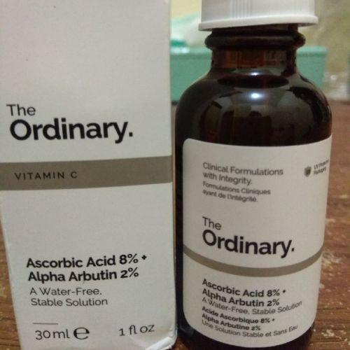 The Ordinary Ascorbic Acid 8 Alpha Arbutin 2 Review Female Daily