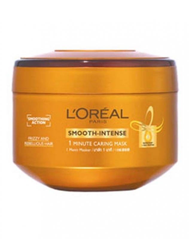 L Oreal Paris Smooth Intense 1 Minute Caring Mask Review Female Daily
