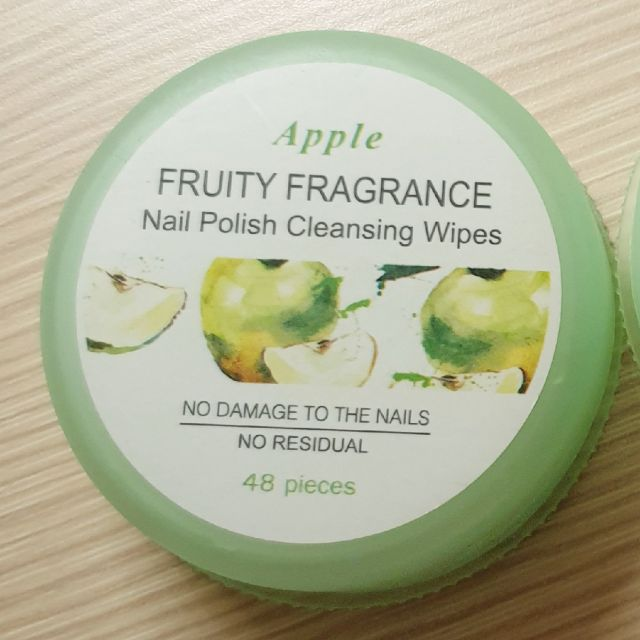 Miniso Nail Polish Cleansing Wipes Apple Fragrance Review Female Daily