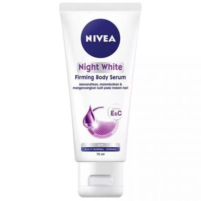 nivea night white firming body serum