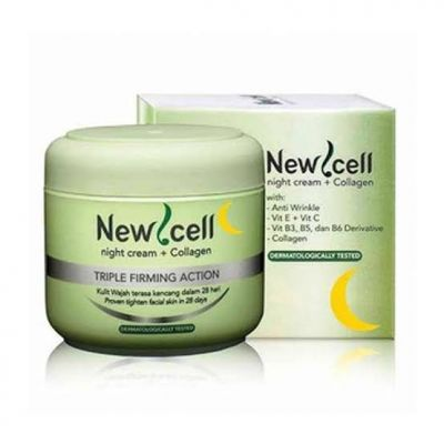 New Cell Triple Firming Action Night Cream + Collagen