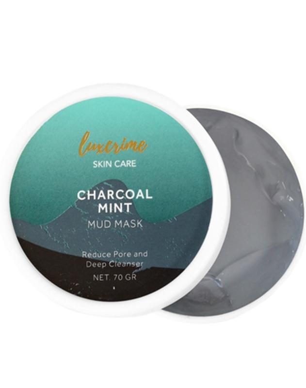 Luxcrime Charcoal Mint Mud Mask - Review Female Daily